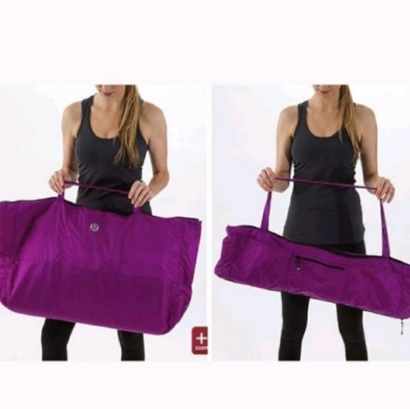 Lululemon yogi tote black big convertible yoga mat